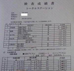 検査成績書