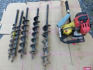 コノエ KONOE 測量杭用穴掘機 ホールインワン 一式