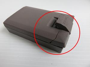 バッテリーの爪の折れ